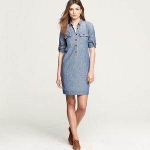 JCrew Factory Chambray Denim Dress size Large EUC